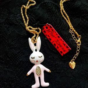 Betsey Johnson Bunny Necklace
